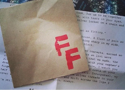 found fiction envelope